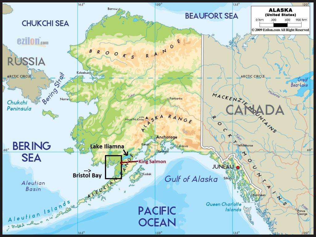 Alaskan Fishing Map